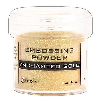 Embossing Powder-Enchanted Gold