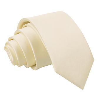 Champagner-Plain Satin Slim Krawatte
