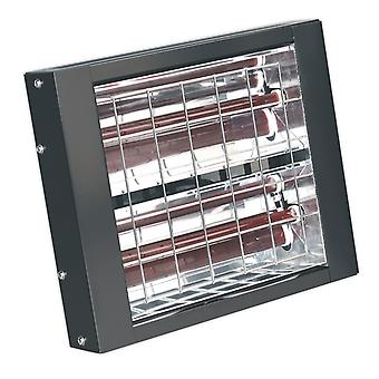 Sealey Iwmh3000 Infrared Quartz Heater - Wall Mounting 3000W/230V