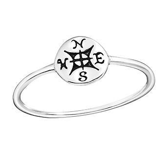 Compass - 925 Sterling Silver Plain Rings - W23257X
