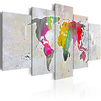 Impresión de lona - ilustración del mundo
