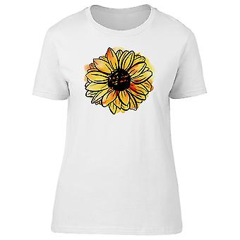 Sunflower With Paint Stains Tee Women's -Image by Shutterstock