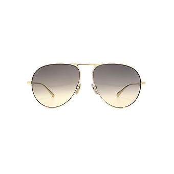 Gucci Urban Pilot Sunglasses In Gold Brown