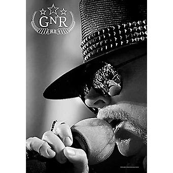 Guns N Roses Axl Rose (At Mic) Large Fabric Poster / Flag 1100Mm X 750Mm