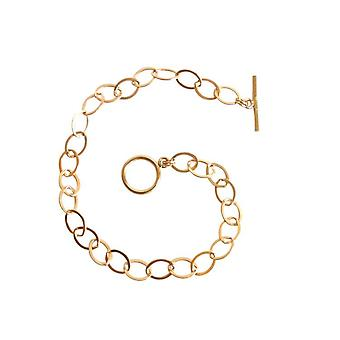 Bangles gold plated Golden bracelet with toggle clasp