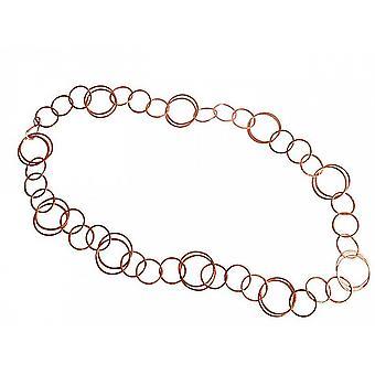 schöne lange Kette - Damen - Halskette - Rose Vergoldet - 90 cm