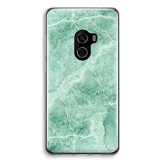 Xiaomi Mi Mix 2 Transparent Case (Soft) - Green marble