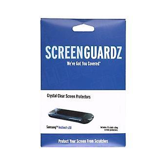 Protezioni di schermo 5 pack - ScreenGuardz Samsung Instinct S30 SPH-M810, (15 Pack)