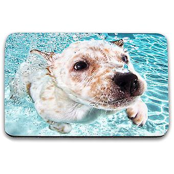 i-Tronixs - Underwater Dog Printed Design Non-Slip Rectangular Mouse Mat for Office / Home / Gaming - 0