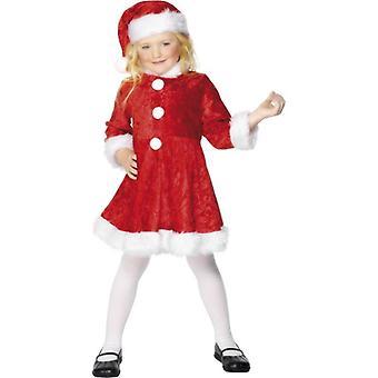 Mini Miss Santa Costume, Large Age 9-12