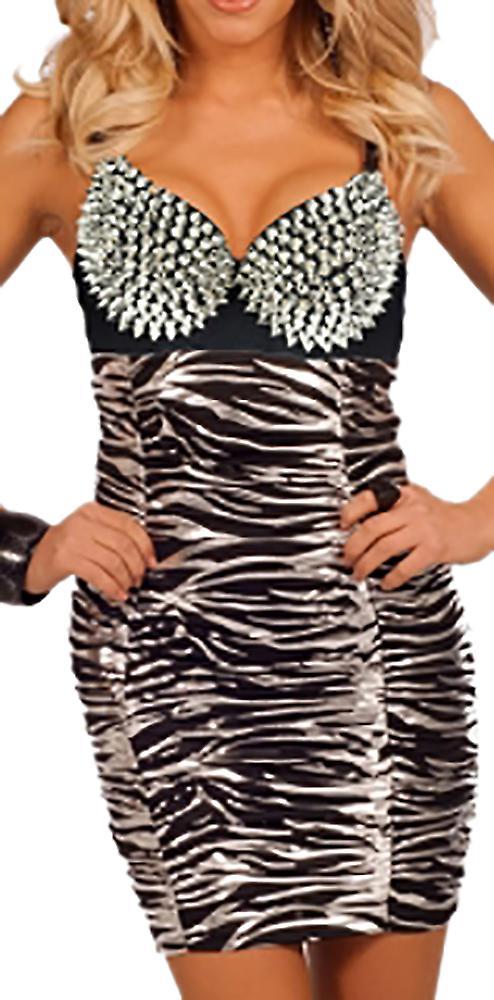 Waooh - zebra dress with bustier studded Iglea