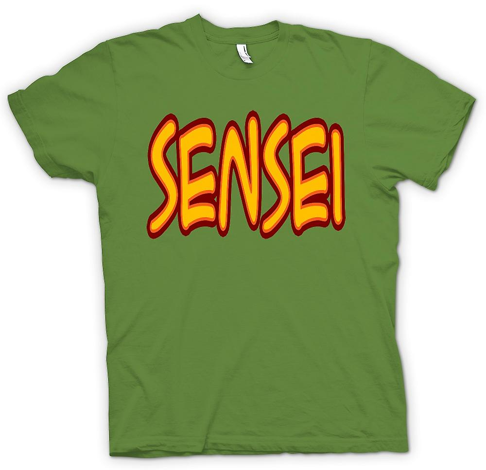 Mens T-shirt - Sensei - Martial Art - Slogan