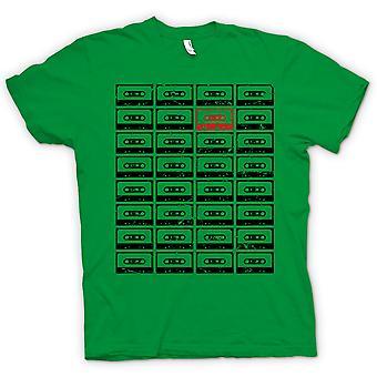 Mens T-shirt - Old School Tapes - Retro