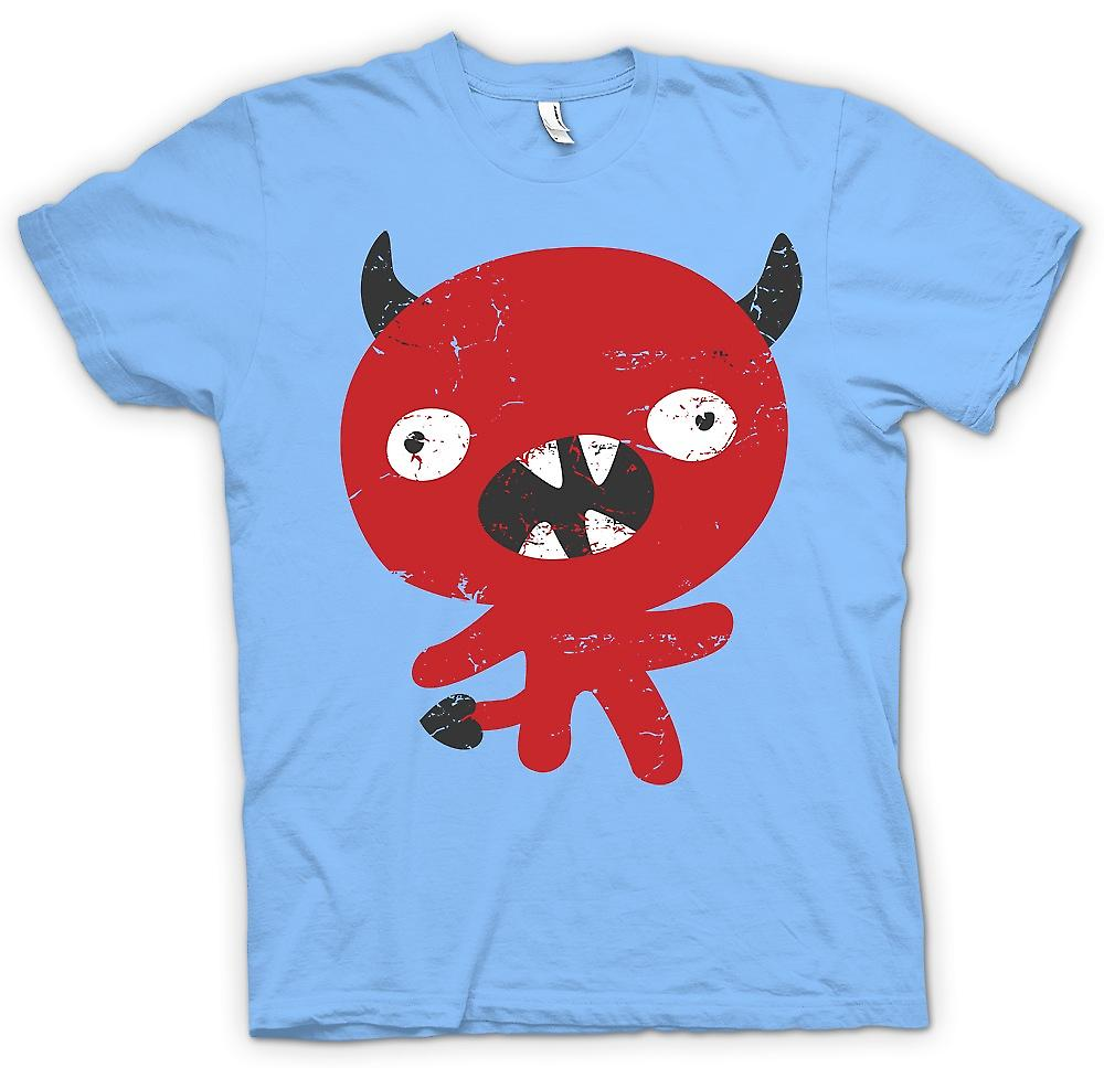 Mens T-shirt - Cute Devil Cartoon - Funny