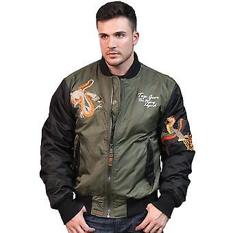 Top Gun Flying Legend Bomber Jacket Olive