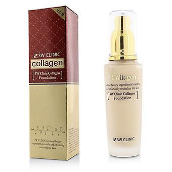 3w Clinic Collagen Foundation - # 21 (transparent Beige) - 50ml/1.67oz