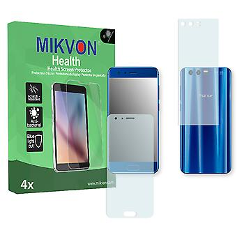 Honor 9 Premium Screen Protector - Mikvon Health (Retail Package with accessories) (1x FRONT / 1x BACK) (reduced foil)