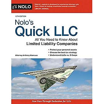 Nolo's Quick LLC: All You Need to Know about Limited� Liability Companies (Quick & Legal)