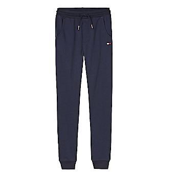 Tommy Hilfiger Kids Unisex Cotton Blend Jogging Bottoms, Navy Blazer, Large