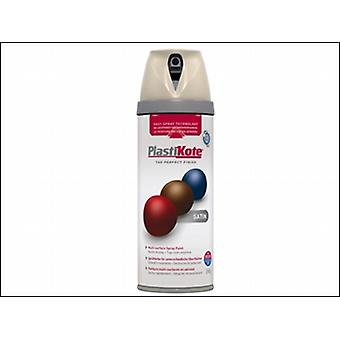 Plasti-Kote Twist & Spray Satin Warm Grey 400ml