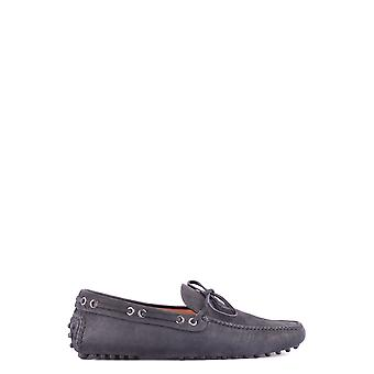 Car Shoe Blue Leather Loafers