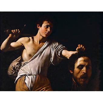 Давид с головой Голиафа, Караваджо, 50x40cm