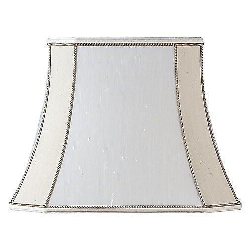 Endon CAMILLA-16 Camilla Square Cut Beige Silk Fabric Lamp Shade - 16 Inch