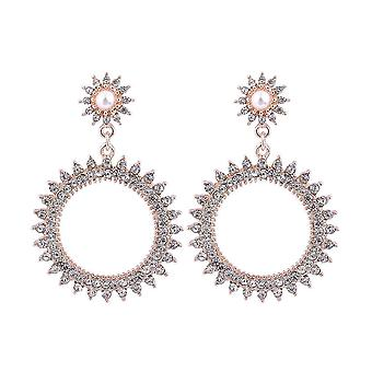 Intrigue Womens/Ladies Pointed Circle Earrings
