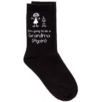 I'm Going To Be A Grandma (Again!) Black Socks