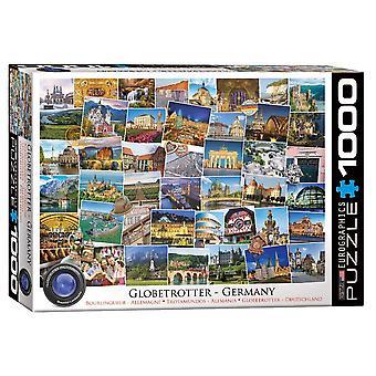 Globetrotter Deutschland 1000 Stück Jigsage-Pigsaisäe Puzzle 680mm x 490mm (pz)