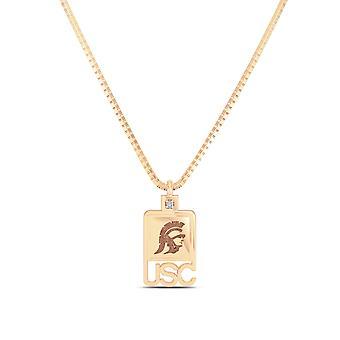 University of Southern California-USC-Trojan Diamond kvinders vedhæng i 14K rosa guld