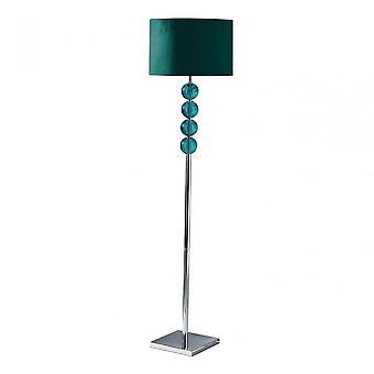 Premier Home Mistro Floor Lamp, Stainless Steel, Suede, Teal