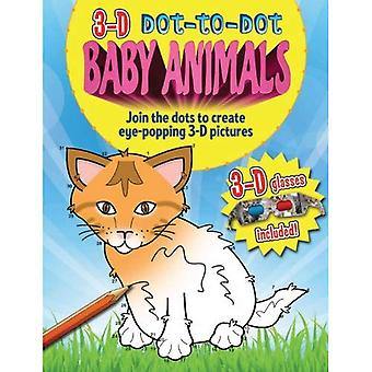 3D Dot to Dot Baby Animals