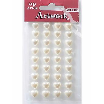 Pearl Heart 10mm Craft Embellishment By Artoz