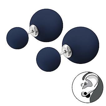 Double Ball - 925 Sterlingsilber Ohr Jacken & doppelte Ohrringe - W29595X