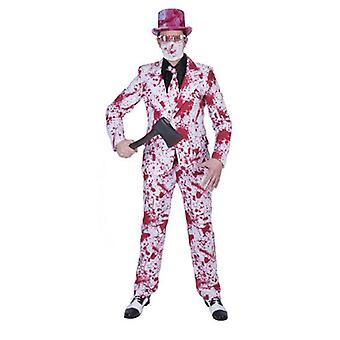 Killer Massacre Zombie Suit Men's Costume Killer Psychopath Bloody Gentleman Men's Costume