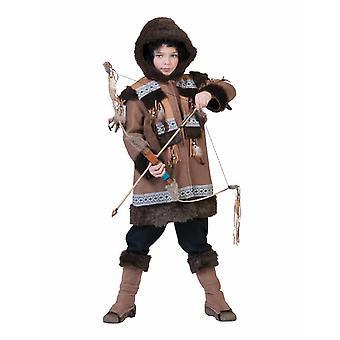 Eskimo Nalu Costume Kids Carnaval indigène Hunter Carnaval Enfants Costume