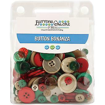 Button Bonanza .5lb Assorted Buttons-Vintage Christmas BB-45