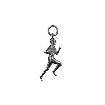 Silver 25x9mm Male Runner Pendant or Charm