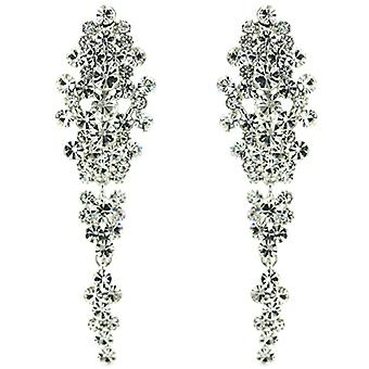 Clip On Earrings Store Imperial Swarovski Crystal Arrangement Drop Clip on Earrings