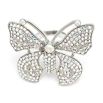 Butler & Wilson Crystal Butterfly justerbar Ring