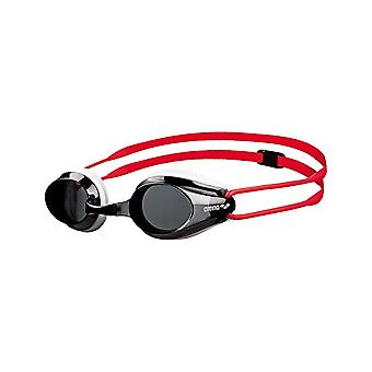 Arena Tracks Junior Swim Goggle - Smoke Lens - White/Red
