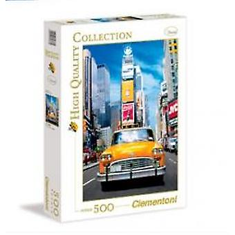Clementoni Puzzle 500 P.taxi In Time Square (Speelgoed , Bordspellen , Puzzels)
