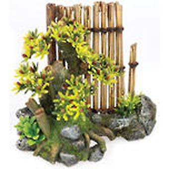 Classic For Pets Bamboo Garden 170mm  2pcs (Fish , Decoration , Ornaments)