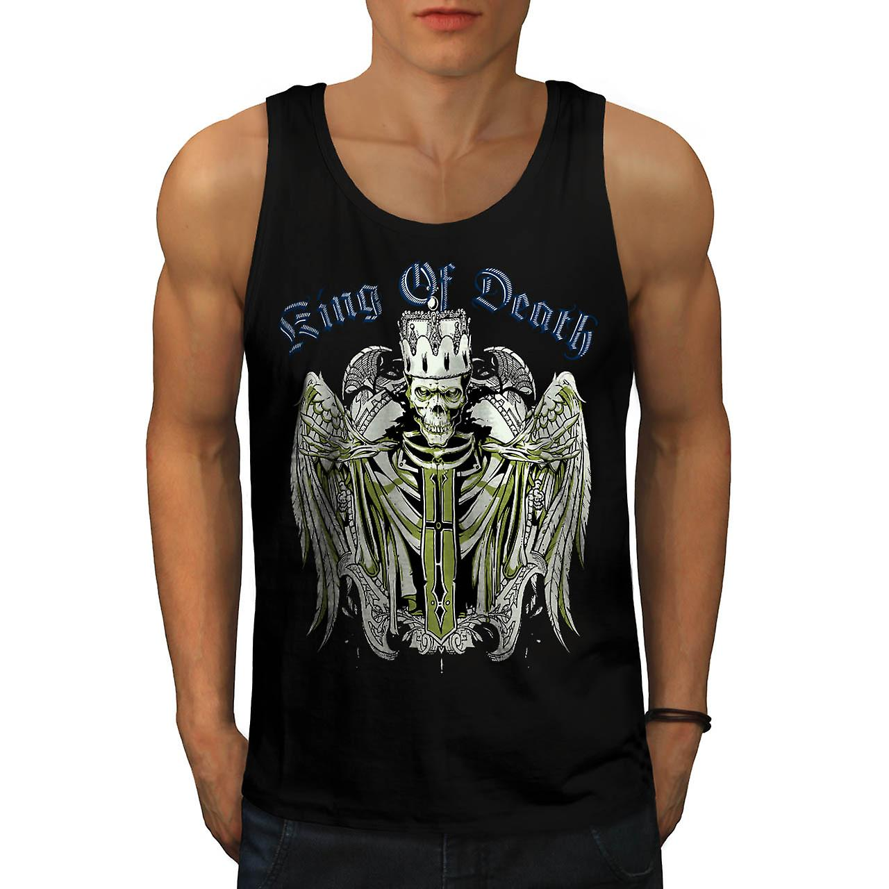 King Of Death Thrones Dead Skull Men Black Tank Top | Wellcoda