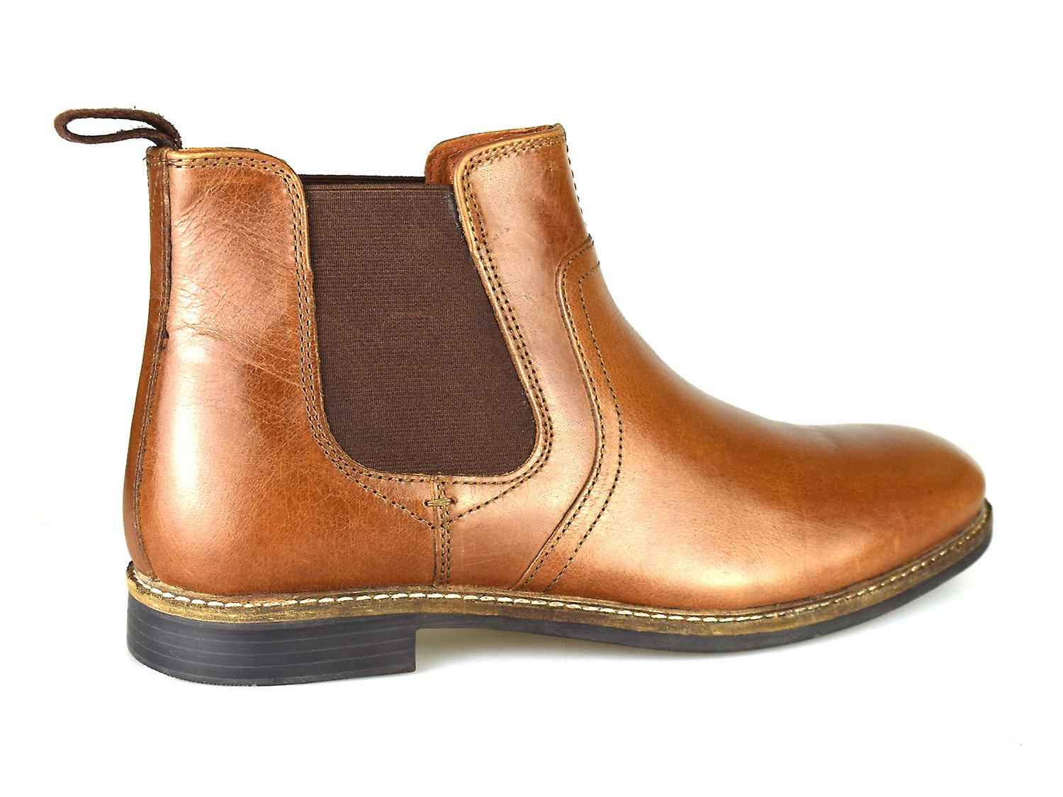 19f96b7ed01 Red Tape Newton Tan Leather Mens Formal Chelsea Boots
