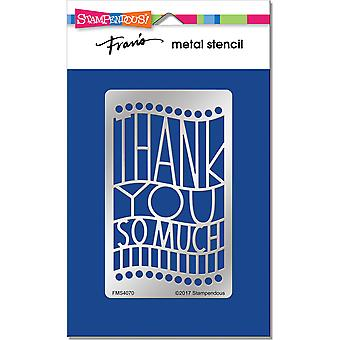 Stampendous Metal Stencil-Thank You Ensemble FMS-4070