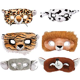 Adult 3D Plush Animal Eyemask Fancy Dress/Halloween Accessory