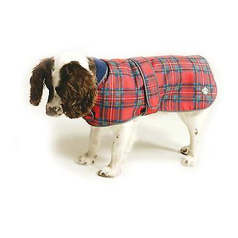 Royal Stewart Tartan Fleece Lined Dog Coat 65cm (26