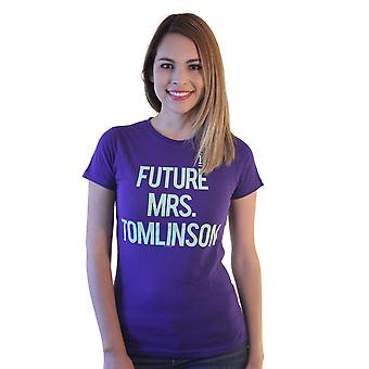 One Direction Future Mrs.Tomlinson Printed Women's Graphic Purple Casual T-shirt